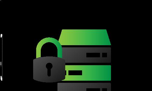 Symbole für Datensicherheit