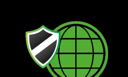 Symbole für Sicherheit und WWW