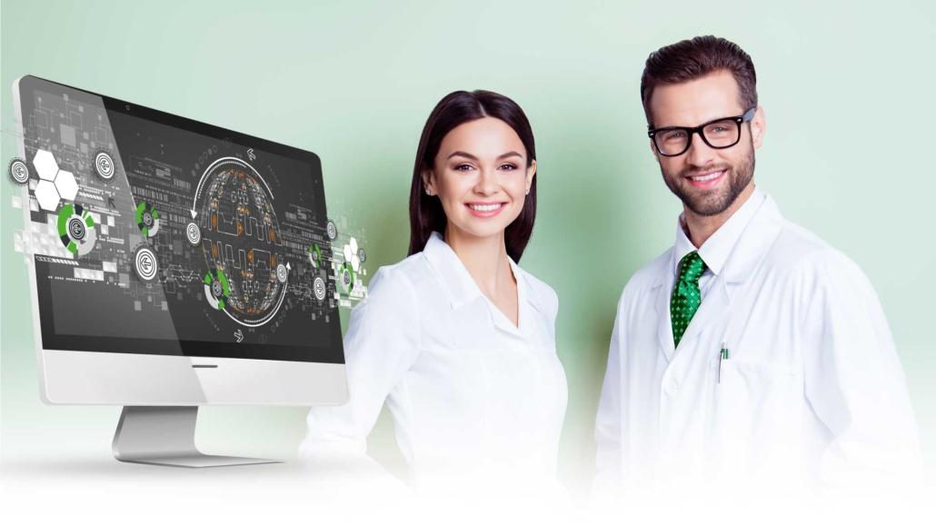 Hintergrundgrafik für IT und EDV Betreuung für Zahnärzte